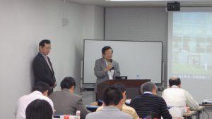 野崎理事から挨拶された時の画像
